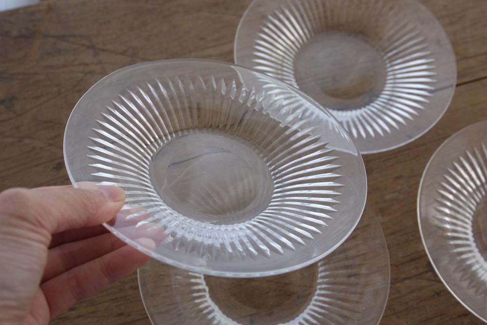 glass dessert plates